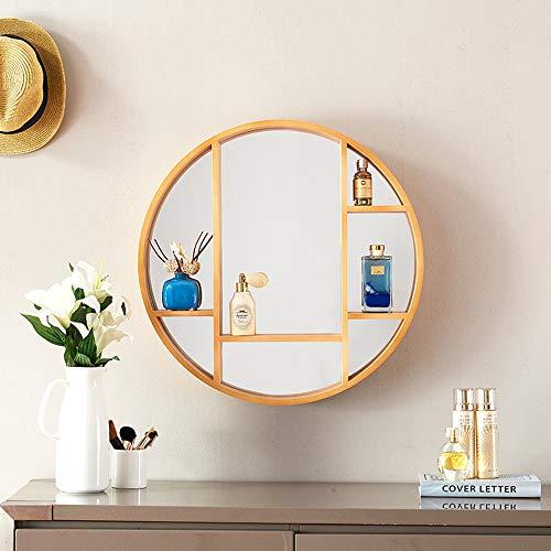 Bathroom mirror JWZQ, Wall Mirror, Storage Mirror, with Storage Cabinet, Diameter 60/70/80cm -