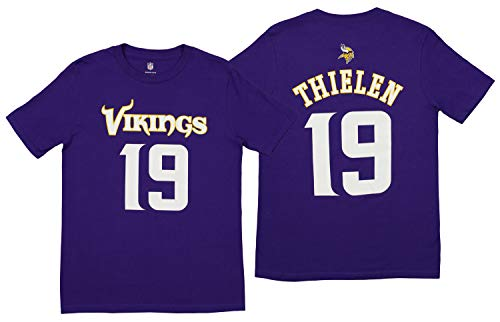 Outerstuff NFL Youth Vikings THIELEN A S/S TEE MAINLINER Flat -TMCSize L ()