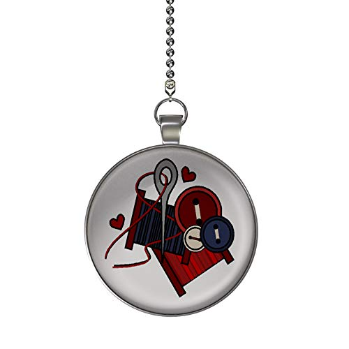 Gotham Decor Americana Sewing Fan/Light Pull Pendant with Chain