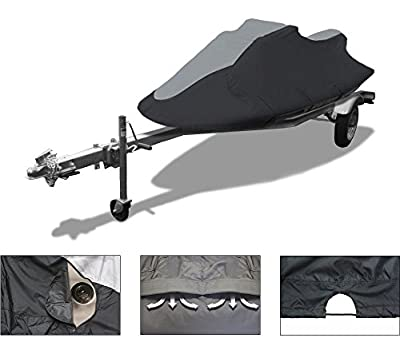 Vehicore Personal Watercraft PWC Jet Ski Cover for Polaris SLT 780 1996 1997 Towable black/grey
