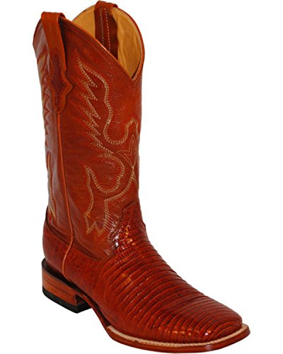 Ferrini Men's Teju Lizard Exotic Western Boot Square Toe Peanut 11 D(M) US