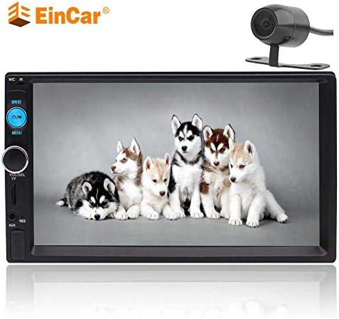 ホイールコントロールマルチボタンの色をステアリングEincarダブル2DINカーステレオマルチメディアプレーヤー7インチHD容量性タッチスクリーンカーラジオのサポートBluetoothのビデオオーディオUSBのTFリモートコントロールバックアップカメラ