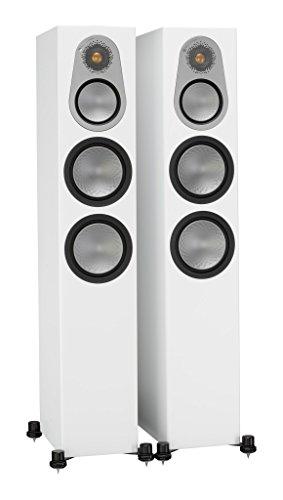Monitor Audio Silver 300 Floorstanding Speaker Satin White (Monitor Audio Studio Speakers)