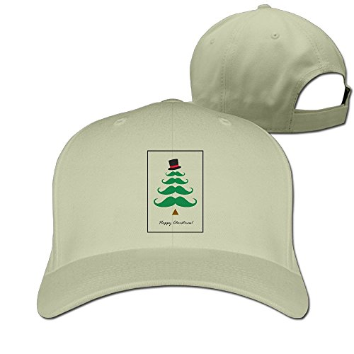 Costumes Magic Tree House (Sandwich Peaked Cap 100% Cotton Funny Mustache Tree Happy Christmas Cap Adjustable Hip HopNew Design Cool)