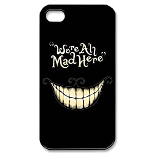 Custom Your Own Funny We're All Mad Here iPhone 4/4S Case , personalised We're All Mad Here Iphone 4 Cover