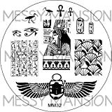 MESSY MANSION MM32 Nail Art Stamping Plate - Egyptian