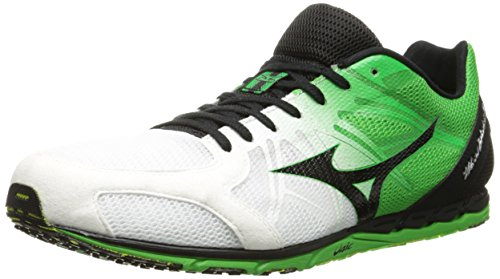 Mizuno Men's Wave Ekiden 9 Running Shoe,White/Black,5.5 D US ()