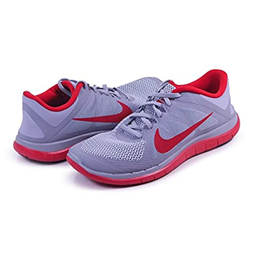 daac2f5f6544 Nike Mens Free 4.0 v4 Wolf Gray Red Running Shoes 579959 001 (10.5 ...
