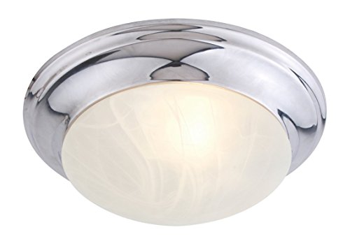 Livex Lighting 7302-05 Flush Mount with White Alabaster Glass Shades, Chrome
