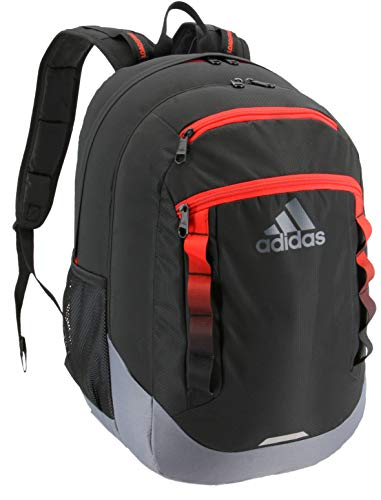 adidas Excel Backpack, Black/Active Red/Onix, One Size