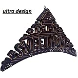 Ultra Design Handcrafted Wooden Sweet Home Texted Key Hanger Wall Hanging Décor Home Key Holder Stand for Wall Home Decorative Gifts Item