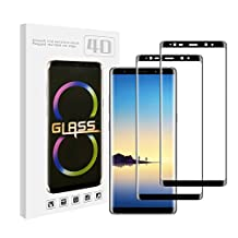 Note 8 Screen Protector (2 PACK) TEKBER HD Full Coverage Tempered Glass Film Screen Protector Made for Samsung Galaxy Note 8-Black