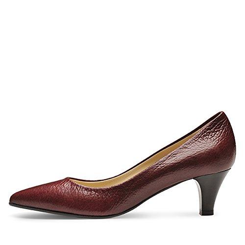 Femme Grainé Escarpins Shoes Bordeaux Cuir Claudia 35 Evita PxqTHwURW
