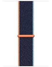 Apple Watch Geweven SportBandje, Donkermarineblauw, 44 mm, Regular (geschikt voor een pols van 145–220 mm)