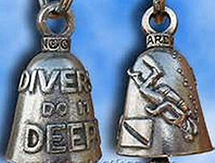 Scuba Diver Guardian® Bell Motorcycle Harley Luck Gremlin Ride