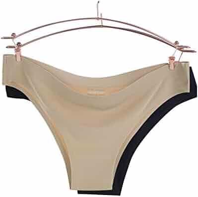 30d391029 TOMORI Women Seamless Underwear One Piece Silk Sexy Panties Thongs Bikini  Pack