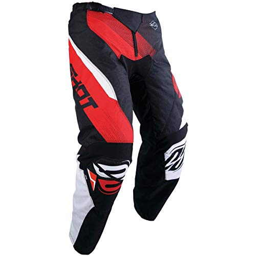 Shot Devo Kids Boys Off-Road Motorcycle Pants - Black/Red / 4/5 by SHOT