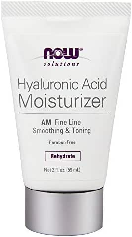 NOW Solutions, Hyaluronic Acid Moisturizer, Smoothing amd Toning, Rehydrating to Start Your Day, 2-Ounce