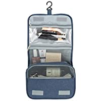 Annana Hanging Toiletry Bag – 3 Tier Travel Toiletry Bag – Makeup Storage - Gift For Women & Men - Blue Denim