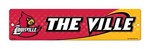Rico NCAA Louisville Cardinals 16-Inch Plastic Street Sign Décor