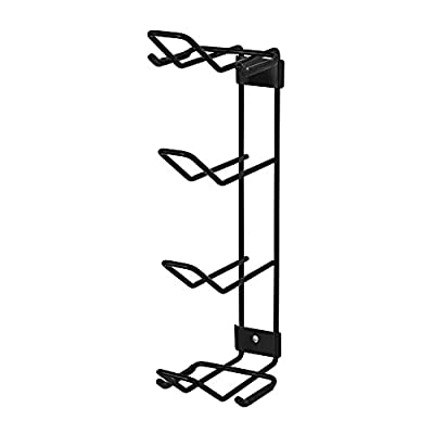 Racor® Pro PG-2 Wall Mounted Golf Storage Rack in Black
