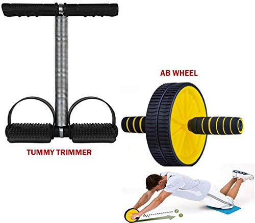 Abhaya Enterprises Ab Wheel Roller + Tummy Trimmer, Abs Exercise Equipment For Home (Combo Of 2) (B07Y17H7ZN) Amazon Price History, Amazon Price Tracker
