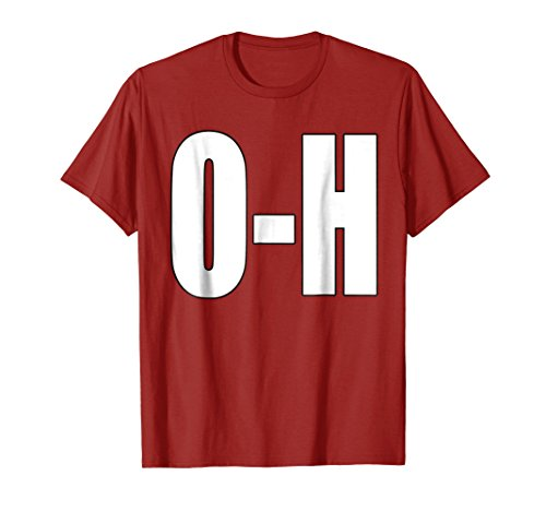 Mens O-H Couples Matching Football Shirt For Ohio Sports Large Cranberry