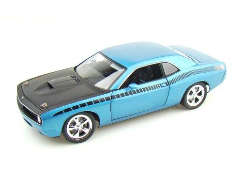 ダイキャストカー Cuda Concept B5 ブルー w/ブラック AAR ストライプ 1/18