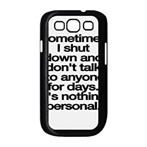 Words To Live By Samsung Galaxy S3 Case Black Yearinspace023177
