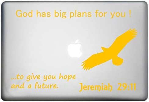 Bible Quotes Wall Decals: Jeremiah 29:11 Wall Decal (I Know The Plans I  Have for You) - MacBook Decal. Made in The USA. Jeremiah 29:11 is Among Our  ...