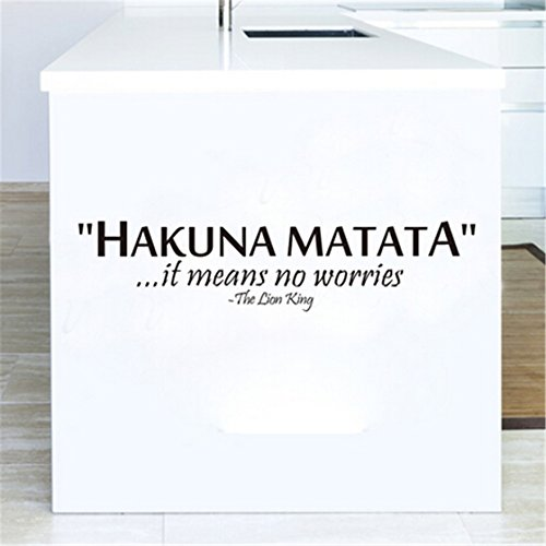 TraveT Hakuna Letter Removable Sticker