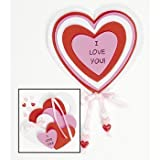 "12 Valentine ""I Love You"" Magnet Craft Kits"