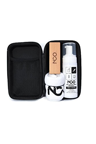 Premium Shoe Sneaker Cleaner Kit 150 ML Bottle Natural Foam Solution Set with Brush and Microfiber Towel Cloth Water Based Formula All in One Portable Kit by NCO (Image #2)