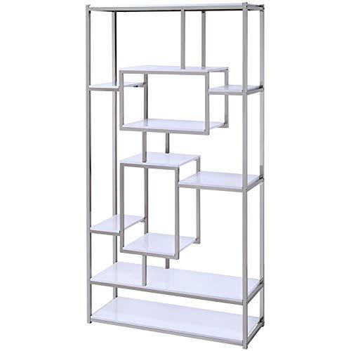 Steve Silver Company AZ250BW Alize Bookcase, - Metal Bookcase Contemporary