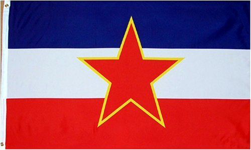 Yugoslavia National Country Flag - 3 foot by 5 foot Polyester (New)