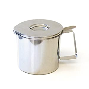 RSVP Endurance Stainless Steel Fryer's Friend Grease Keeper, 4-Cup