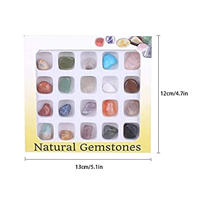 Rock and Mineral Educational Collection in Collection Box 20 Pieces with Description Sheet and Educational Information. Geology Gem Kit for Kids in A Display Case: Home & Kitchen