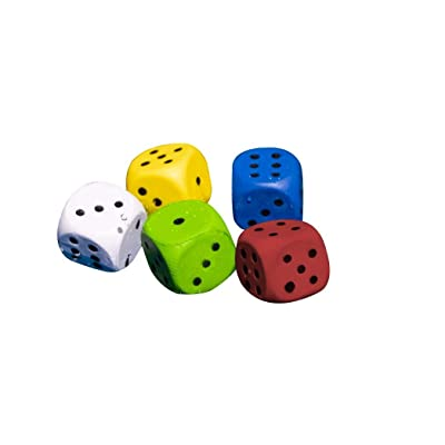 Swimline 5 Pack Floating Dice Game, Multicolor: Toys & Games