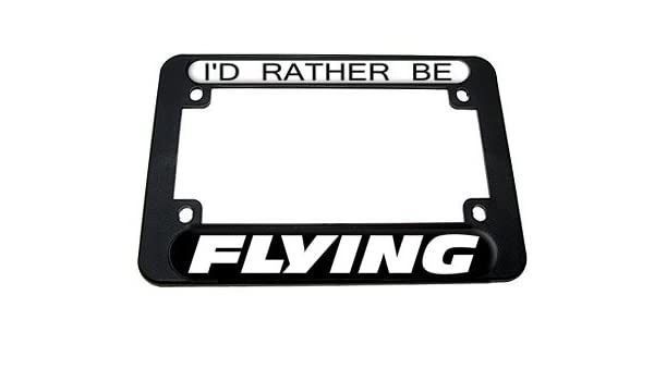 """Black Motorcycle License Plate Frame for 7/"""" x 4/"""" Motorcycle Plates Black Frame"""
