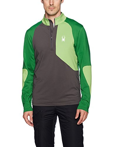 - Spyder Men's Charger Thermastretch T-Neck, Polar/Fresh/Amazon, Large