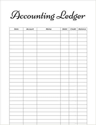 amazon com accounting ledger 130 pages to keep track of your bills
