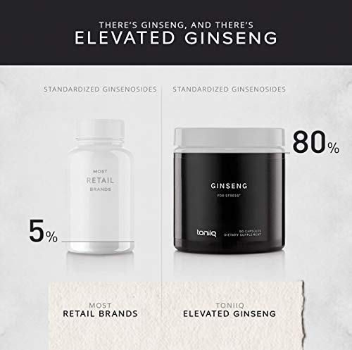 Ultra High Strength Panax Ginseng Capsules - 80% Ginsenosides - The Strongest Red Korean Ginseng Pills Available - 750 mg - Optimal Support for Enhanced Energy and Performance - 90 Veggie Caps by Toniiq (Image #5)