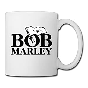 Christina Bob Marley Logo Ceramic Coffee Mug Tea Cup White