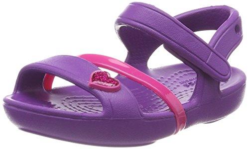 Violeta Niñas Kids Sandal Punta Lina Descubierta amethyst De Para Sandalias Crocs zxF86nw