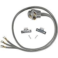 Accesorios para electrodomésticos certificados Cable para secadora de 30 amperios, orificio abierto, 30 amperios, 4 pies