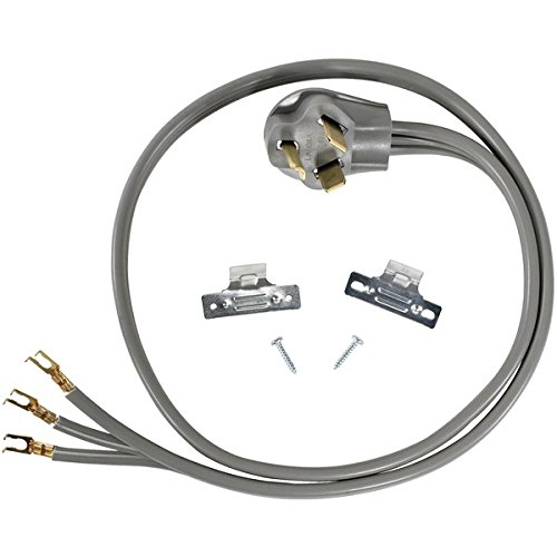 Certified Appliance Accessories 3-Wire Open-Eyelet 30-Amp Dryer Cord, 4ft (Clothes Cord Dryer)