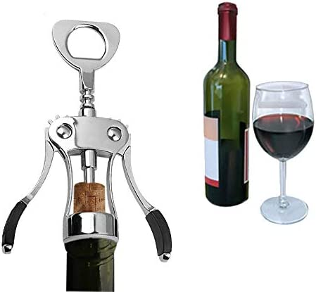 Sacacorchos Tapón De Vino Corkscrew Y Tapón De Vino Set 2pcs Por Dongzhi All-in-one Kitchenware Bottle Opener For Beer &wine Bar Tools