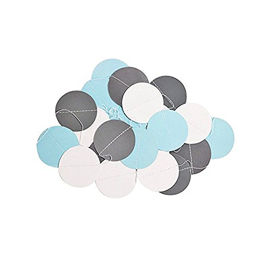 Umiss 23pcs Party Tissue Pom Poms Tissue Flowers Baby Blue White Grey Baby Boy Shower/Party Paper Decorations First Birthday Boy Tissue Flowers Tassel Garland Circle Paper Baby Shower Decorations Photo #2