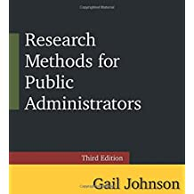 Research Methods for Public Administrators: Third Edition