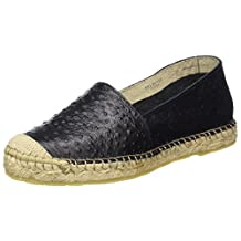 Selected Femme Marley Ostrich Espadrille - Black Womens Shoes